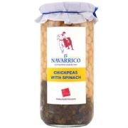 Navarrico Chickpeas with Spinach (700g)